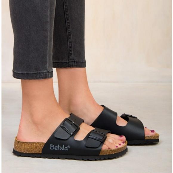 Betula Birkenstock Boogie Black Slide Sandals 36